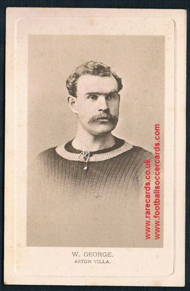 1903 Billy W. George Aston Villa England cap Wrench series postcard
